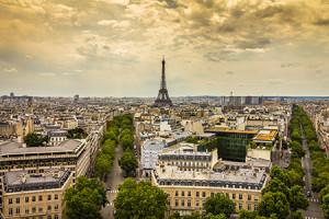 Beautiful view of Paris France